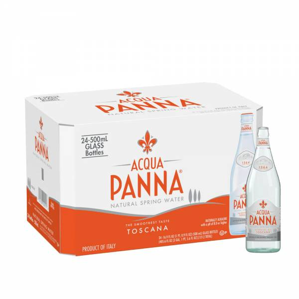acqua panna still water 24x500ml glass bottle