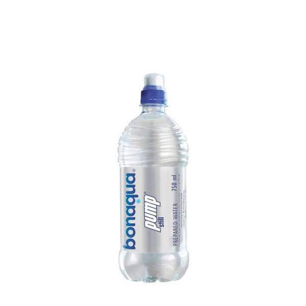 bonaqua pump 750ml sports cap still water
