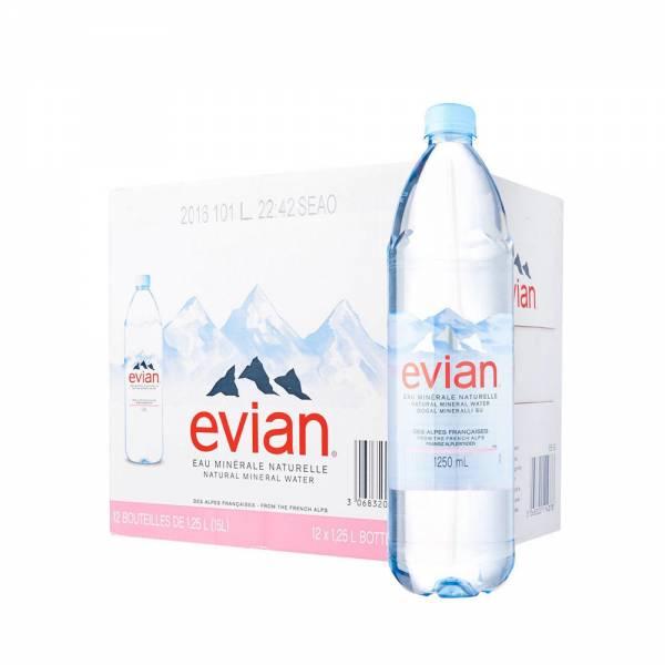 evian still water 12x1.25 litre