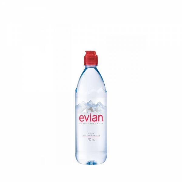 evian still water sports cap 750ml