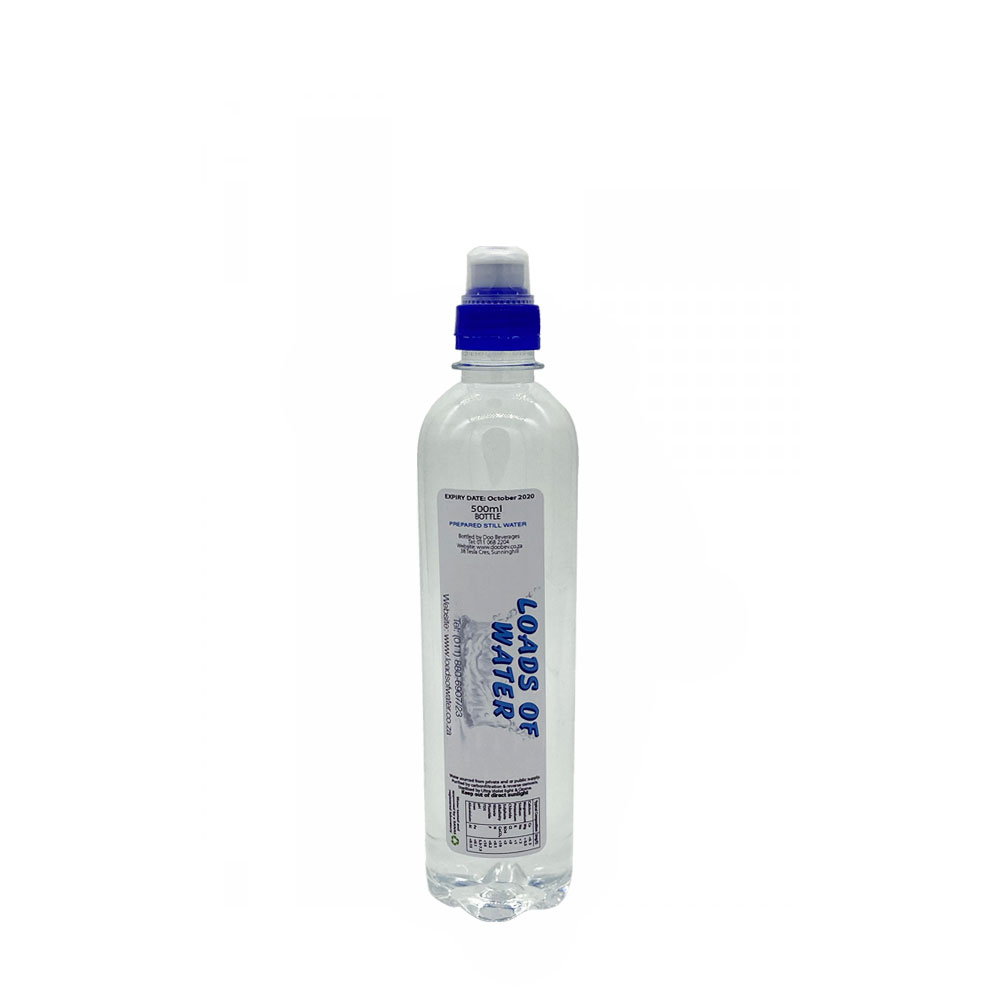 loads of water 500ml sports cap still water
