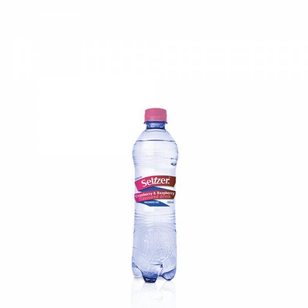 seltzer cranberry raspberry flavoured sparkling water 500ml