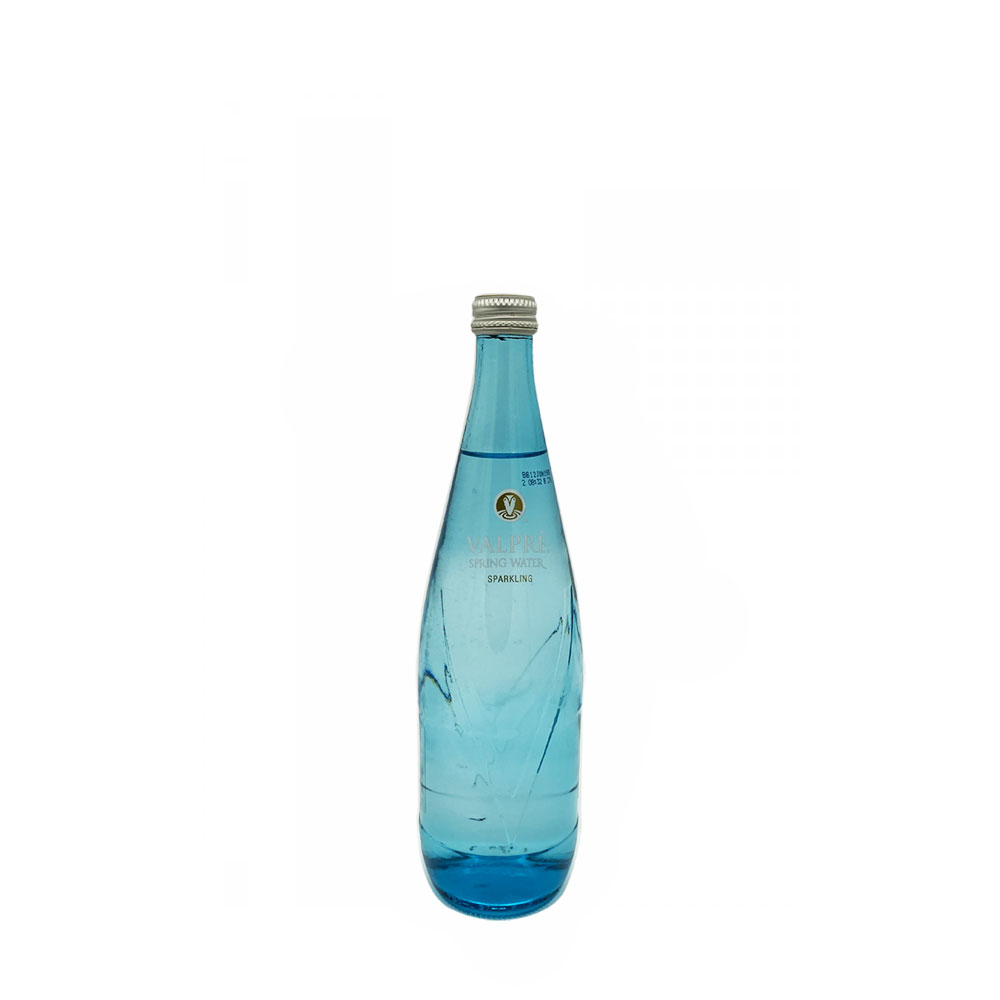 valpre sparkling water 350ml glass bottle