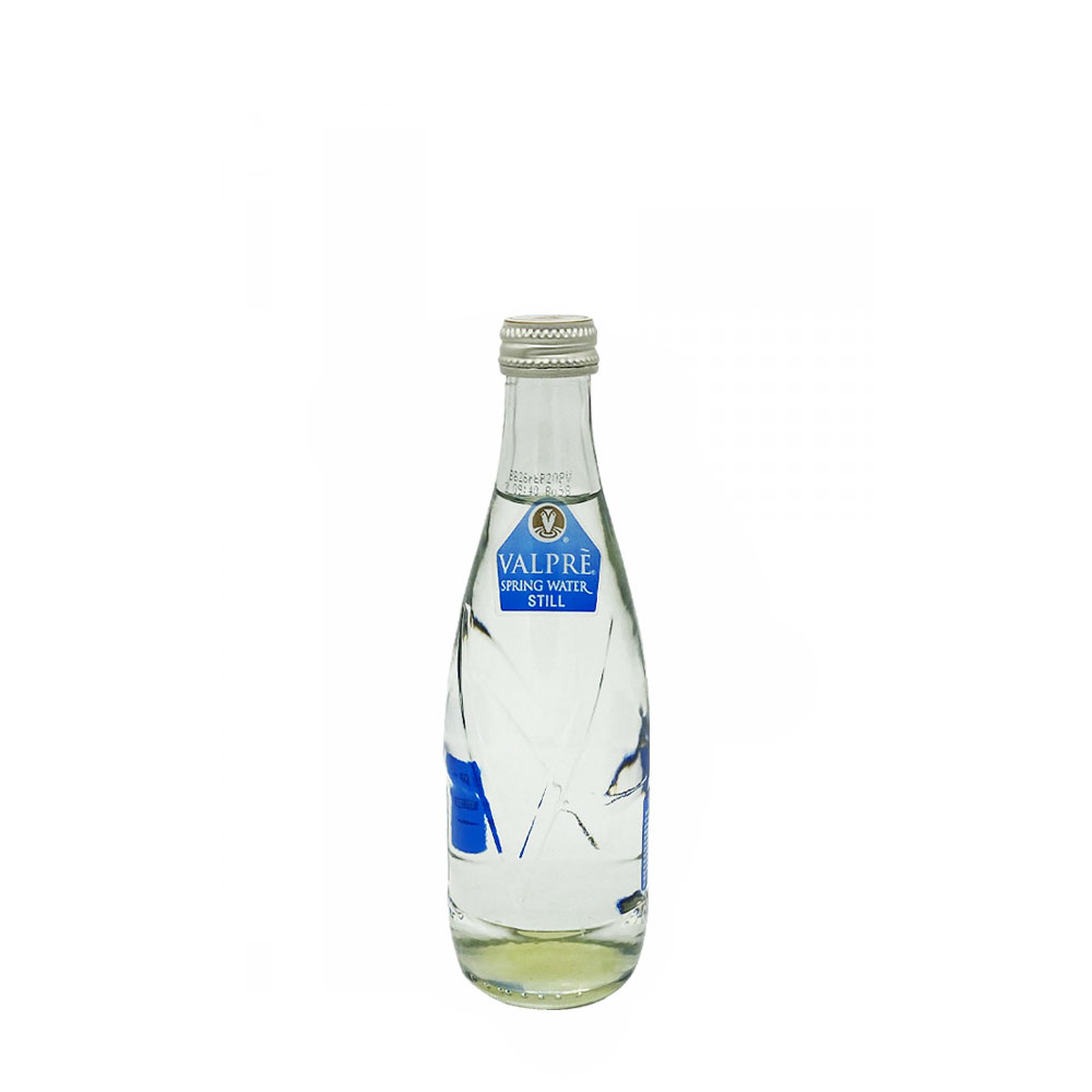 valpre still water 350ml glass bottle