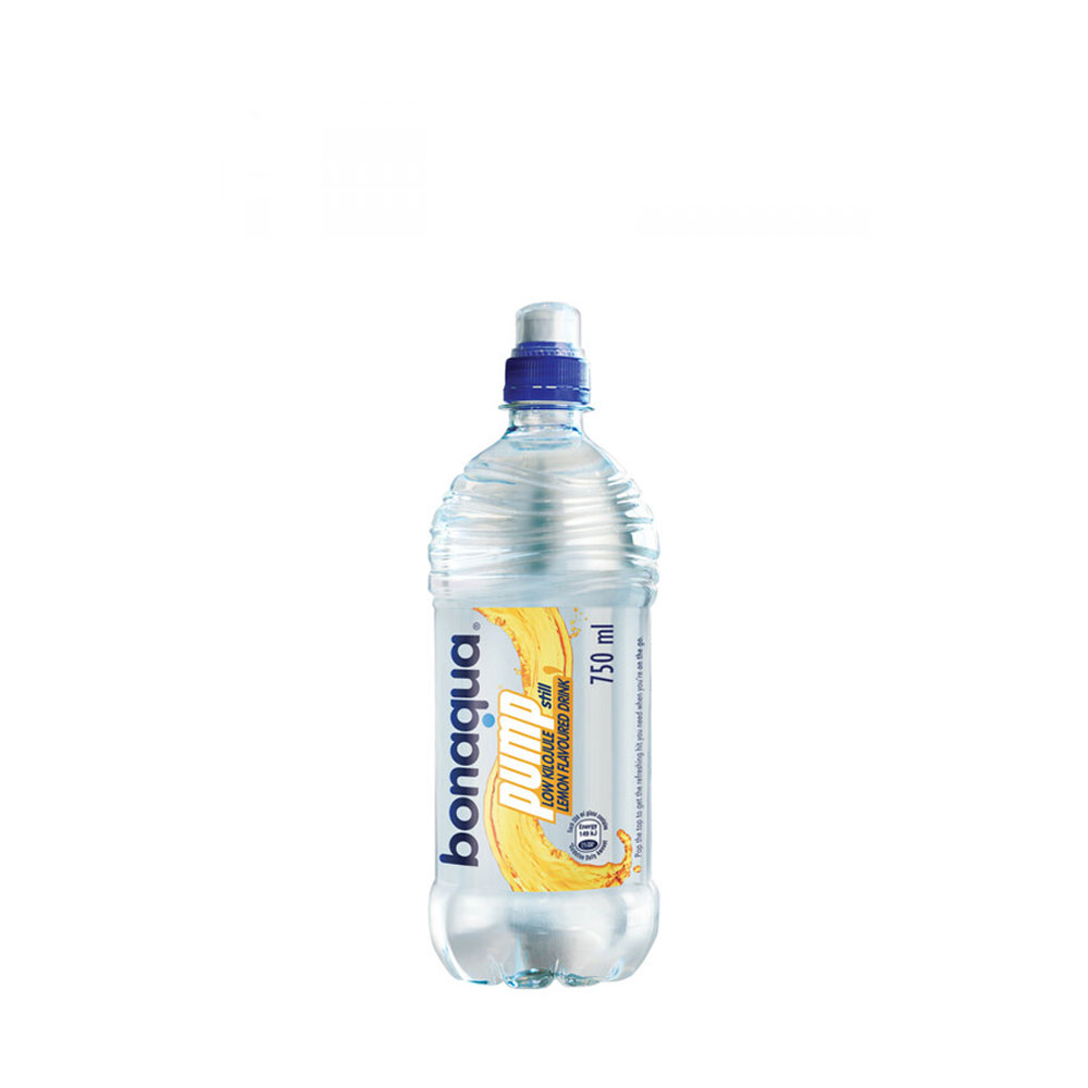 bonaqua pump lemon flavoured 750ml sports cap