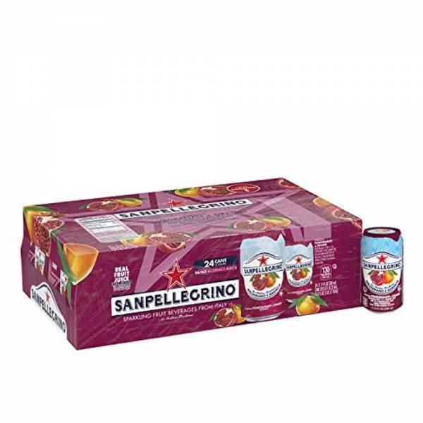 san pellegrino pomegranate flavoured sparkling beverage 24 x 330ml