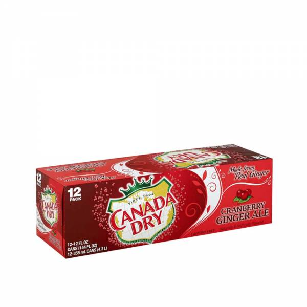 canada dry cranberry ginger ale soda 12x330ml