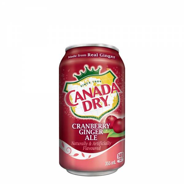 canada dry cranberry ginger ale soda 330ml