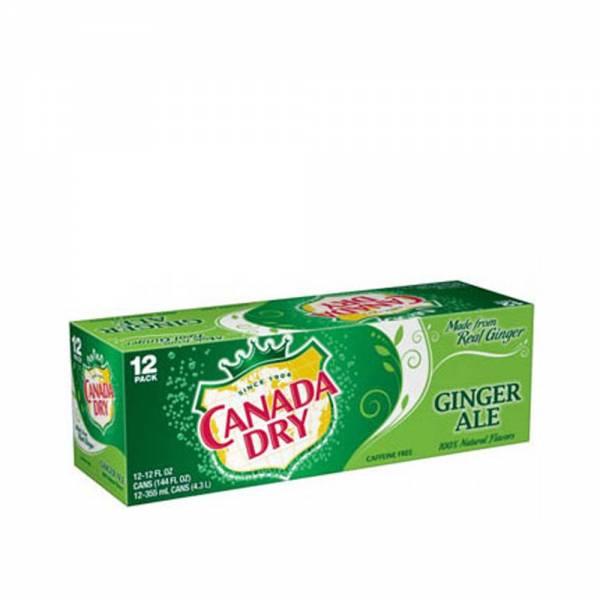 canada dry ginger ale soda 12x330ml