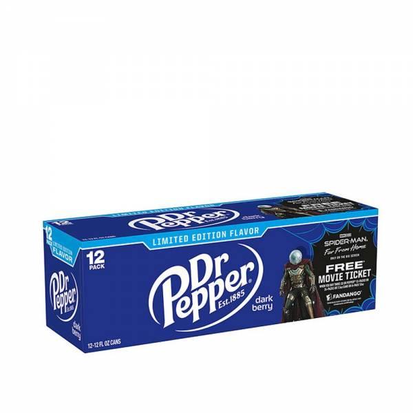 dr pepper dark berry limited edition soda 12x330ml