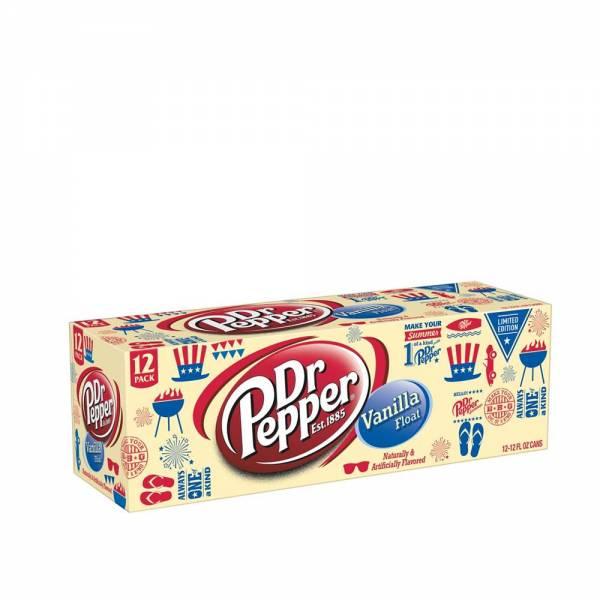 dr pepper vanilla float soda 12x330ml