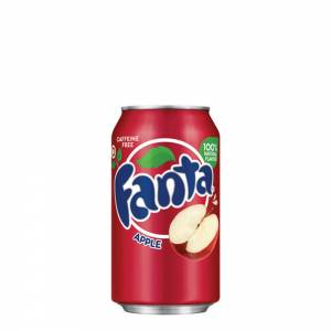 fanta apple red caffeine free 330ml