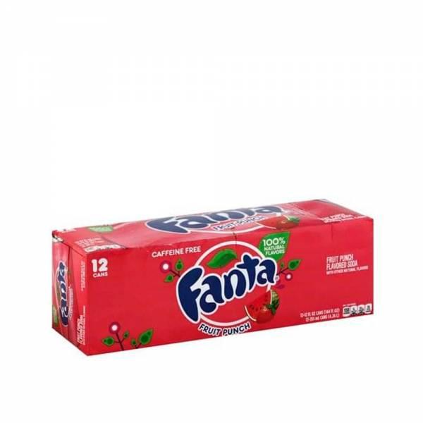 fanta fruit punch caffeine free 12x330ml