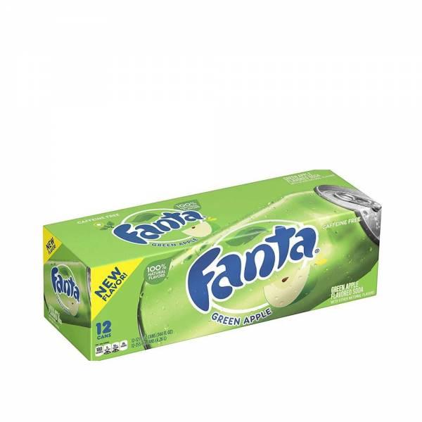 fanta green apple caffeine free 12x330ml