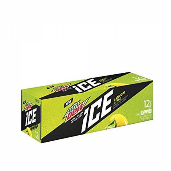 mountain dew ice lemon soda 12x330ml