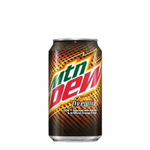 mountain dew live wire orange soda 330ml