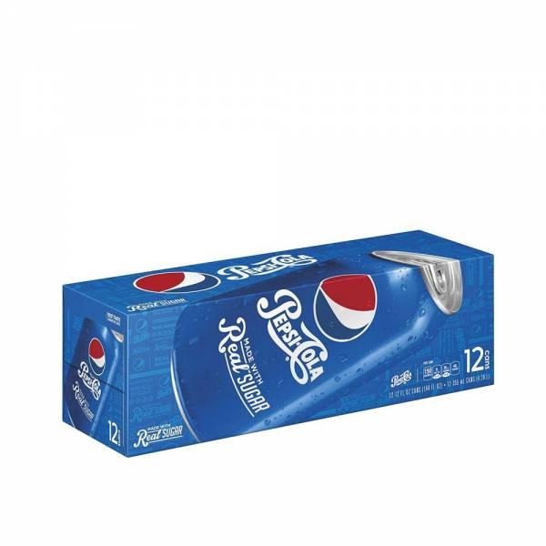 pepsi real sugar soda 12x330ml
