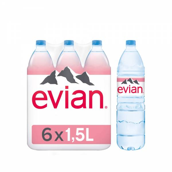 evian still water 6x1.5litre