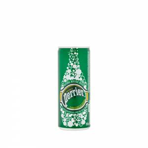 perrier sparkling water can 250ml