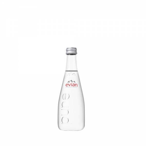 Evian 330mL Still Water Glass