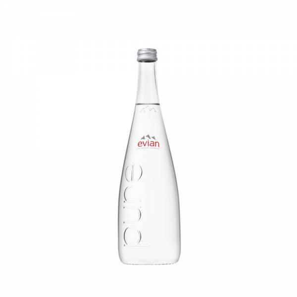 evian 750mL Still Water Glass